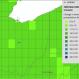 CREAT image showing change in average annual precipitation in percentage by 2060 given a warm/wet future scenario.