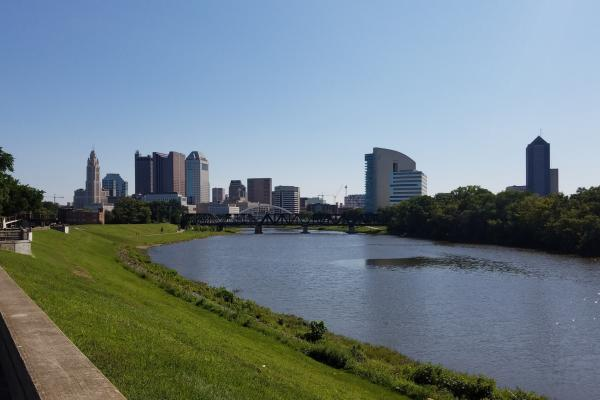 Downtown Columbus with Scioto River